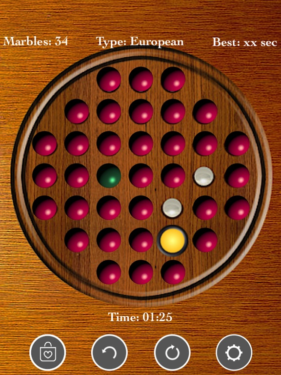 Brainvita Peg Solitaire screenshot 6