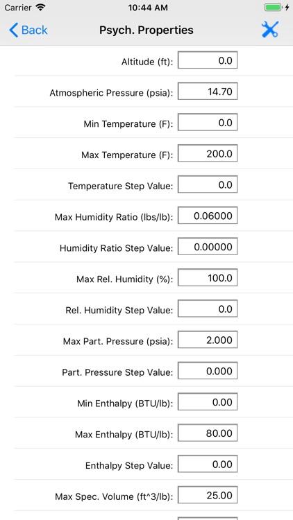HVAC Psychrometric LT screenshot-6