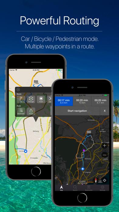 Panama Offline Navigation Screenshot
