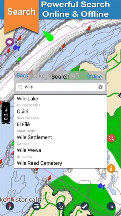Guntersville  Lake gps offline chart for boaters
