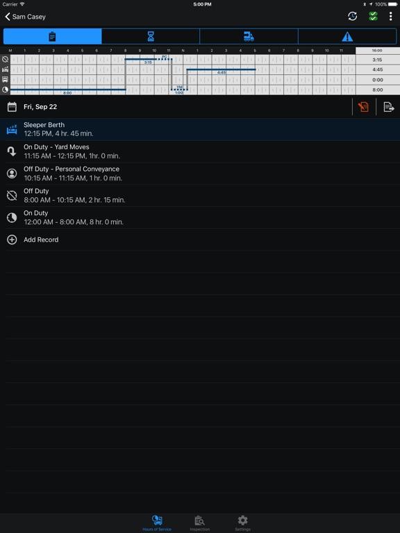 Garmin eLog screenshot 7