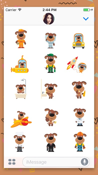 Puppy Dog : Funny Stickers screenshot three