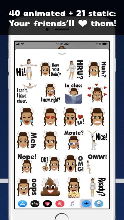 Cheer GIFs Cheerleading Emojis screenshot-0