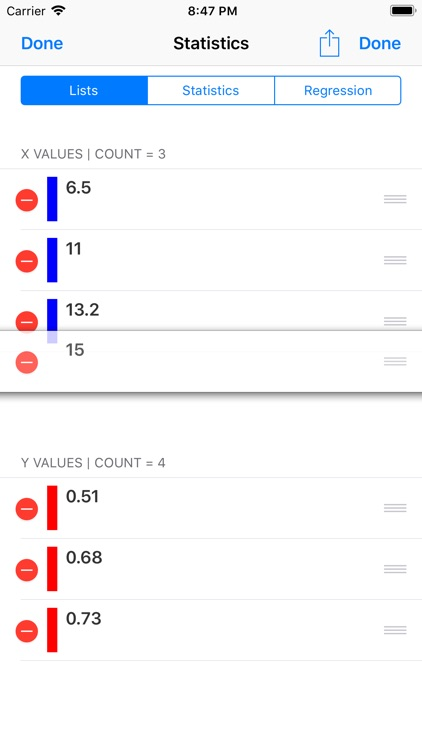Statistics Calculator++ screenshot-4