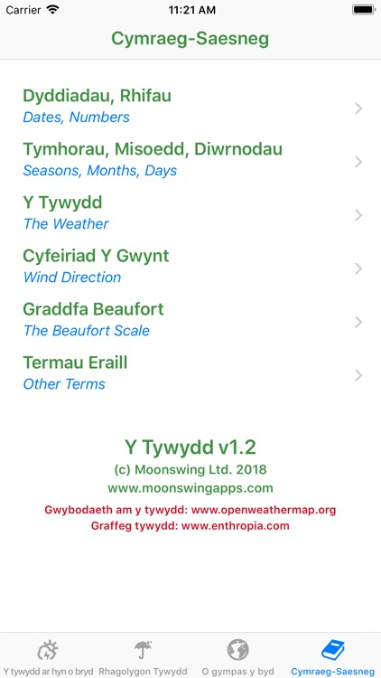 Y Tywydd - Weather in Welsh screenshot-3