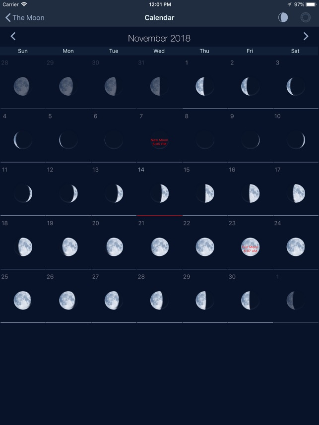 The Moon Calendar Moon Phases On The App Store