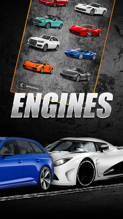 Engines sounds of cars