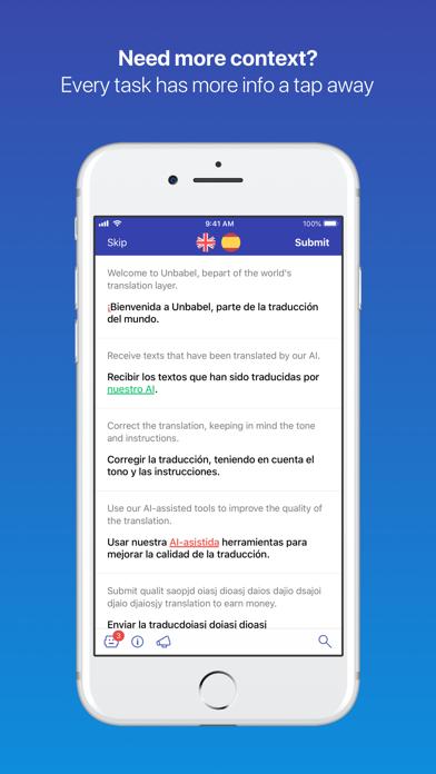 Unbabel for translators screenshot three