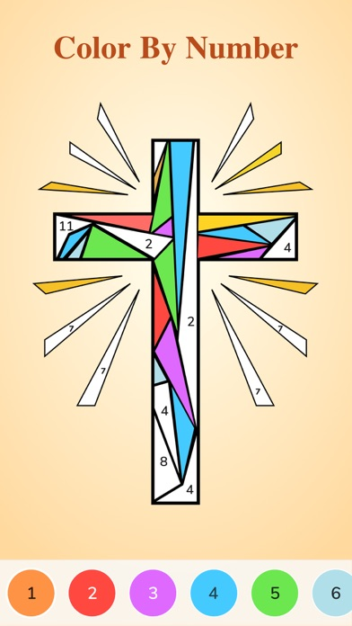 Bible Coloring Paint by Number screenshot 1