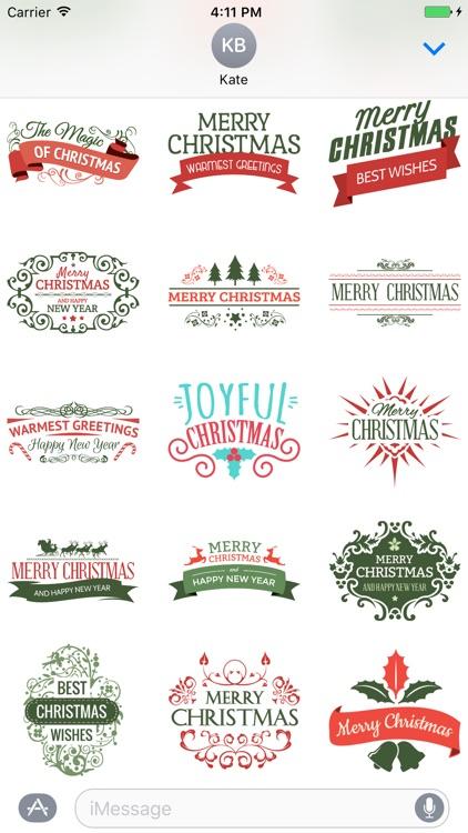Christmas & New Year Badges screenshot-3
