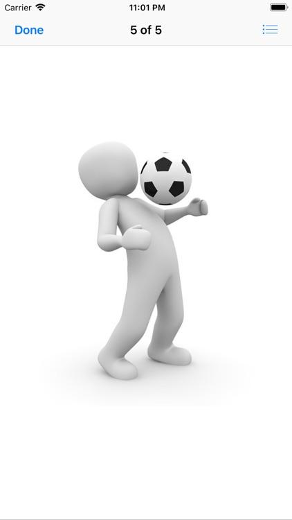 Human and Football Stickers screenshot-7