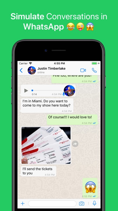 Screenshot for WhatsFake Pro Create Fake Chat in United States App Store