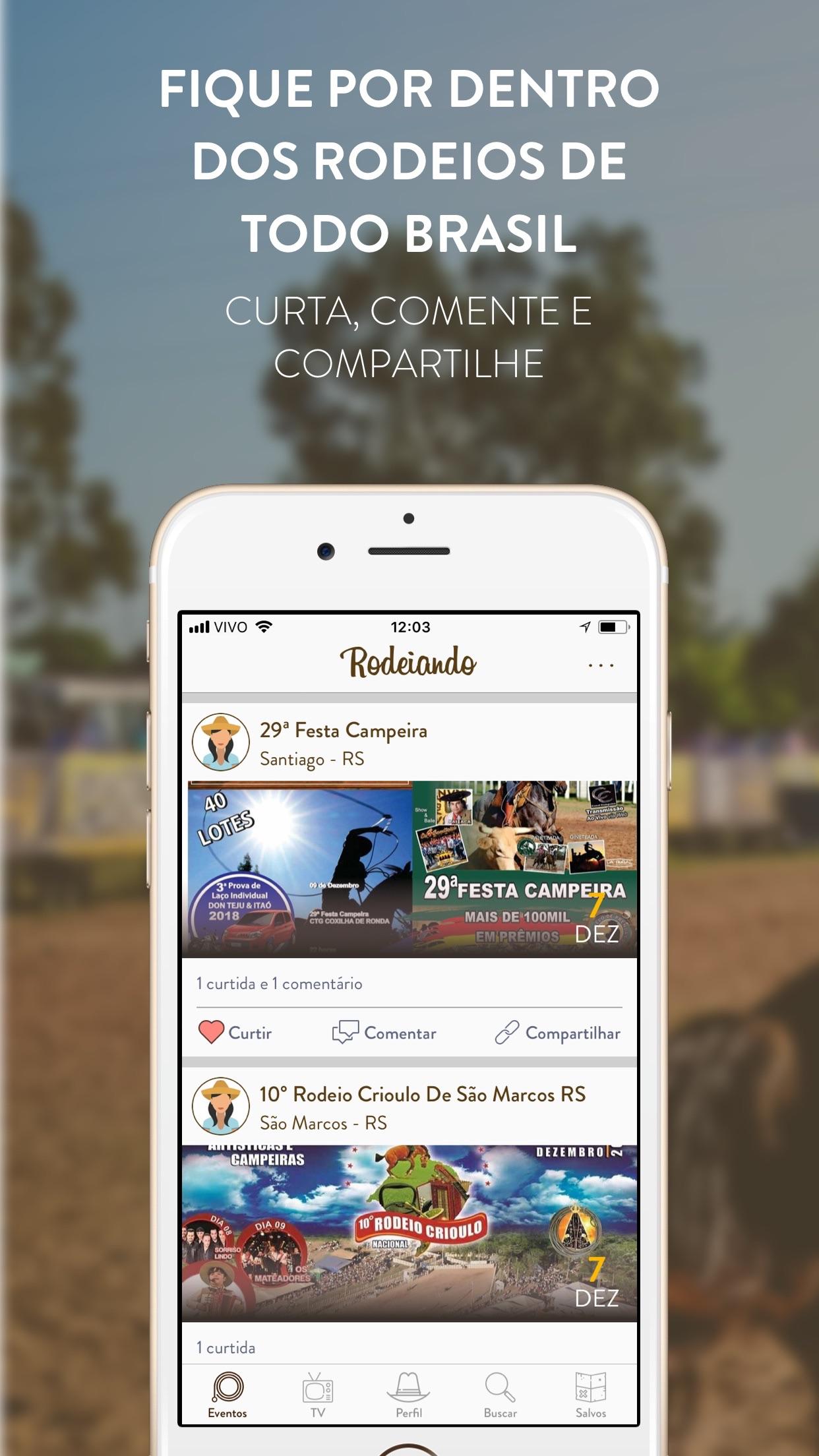 Screenshot do app Rodeiando