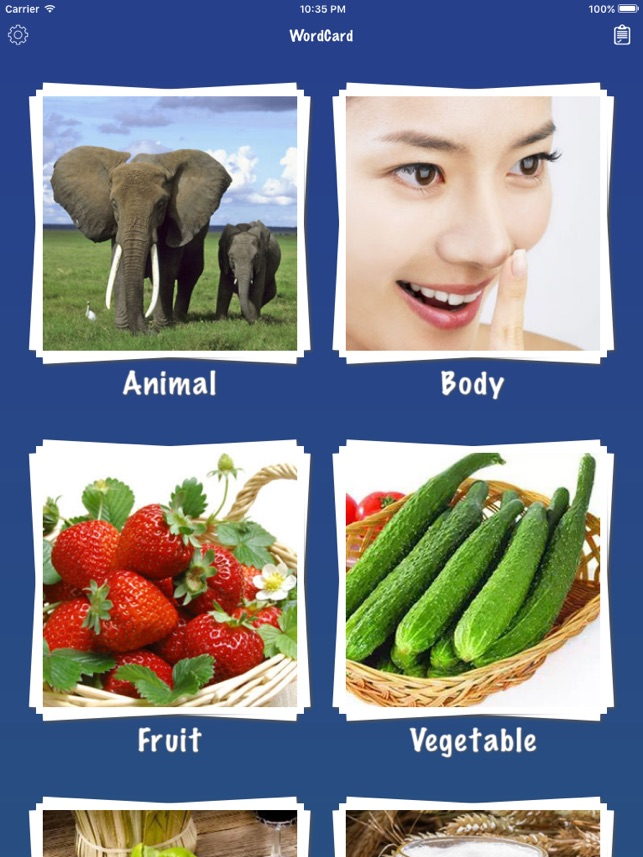 Korean Word Flashcards Learn Screenshot