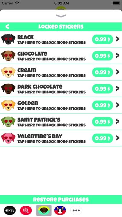 Labrador Emoji Stickers
