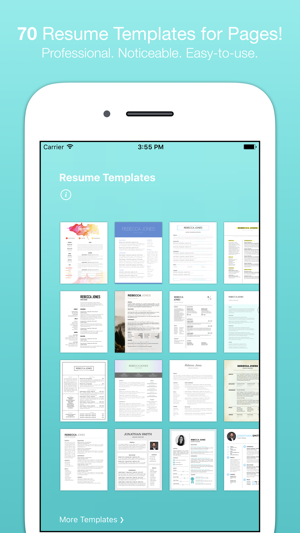 Resume templates for pages on the app store iphone ipad yelopaper Gallery