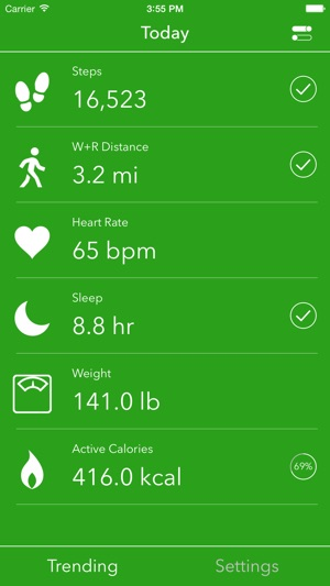 Dashboard for Apple Health App Screenshot