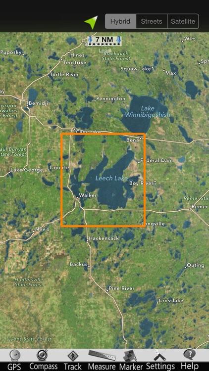 Leech Lake GPS Nautical Charts screenshot-4