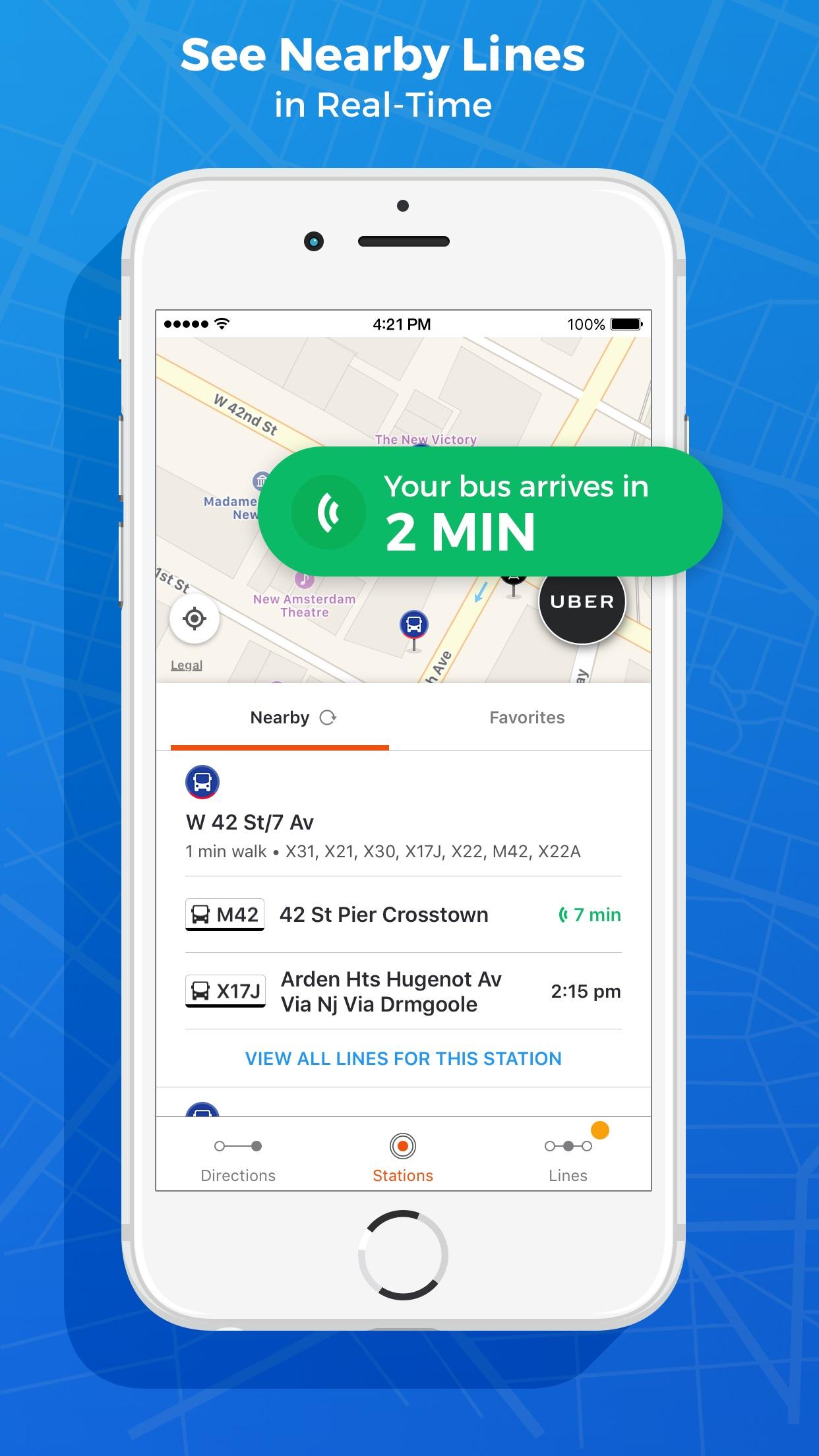Moovit: Live Transit App Screenshot