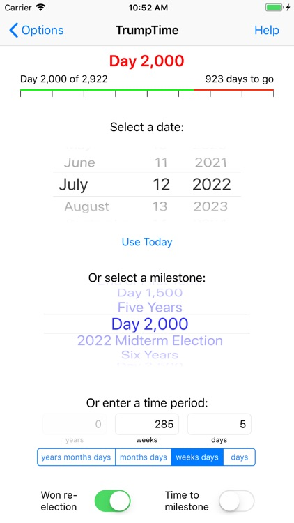 TrumpTime Date Calculator screenshot-4