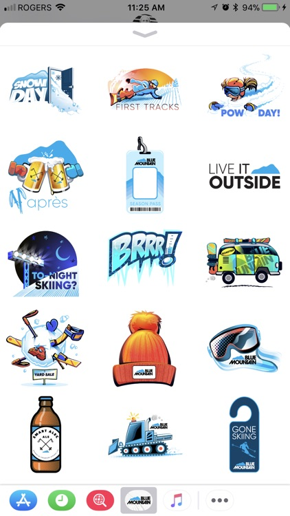 Blue Mountain - Sticker Pack screenshot-1