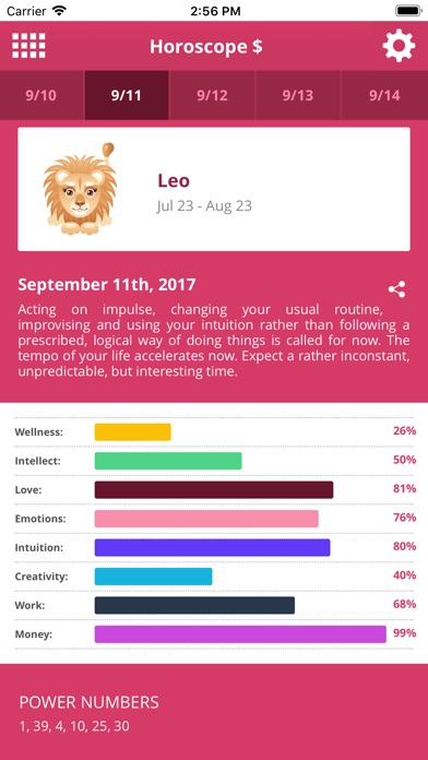 Horoscope $ review screenshots