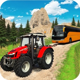 Offroad Tractor Towing Bus