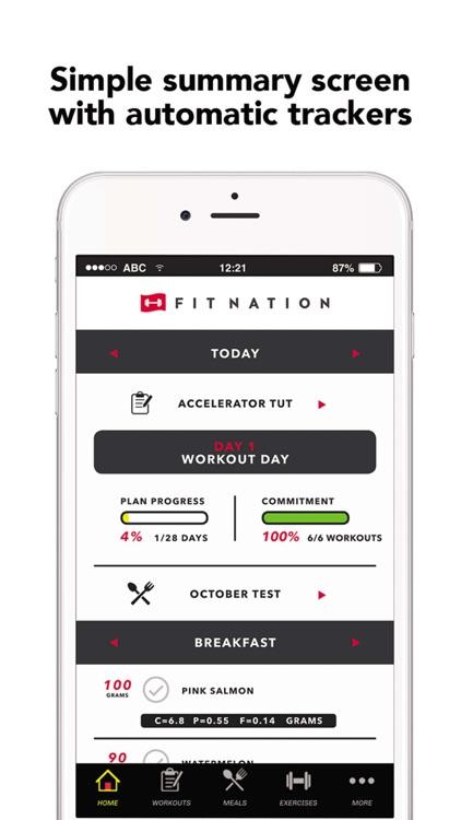 FitNation: Workout & Meal Plan screenshot-4