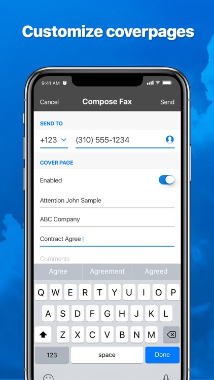 eFax – send fax from iPhone screenshot-3