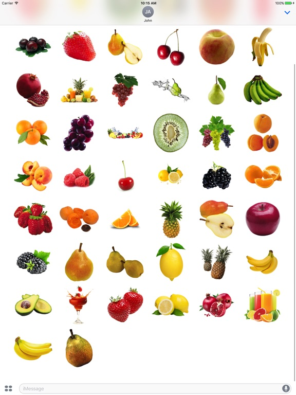 Best Fruits for iMessage screenshot 5