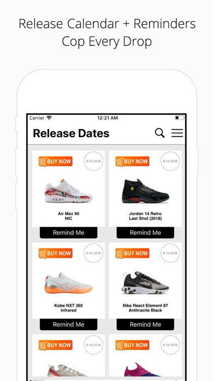 Sneaker Riot - Release Dates screenshot-1