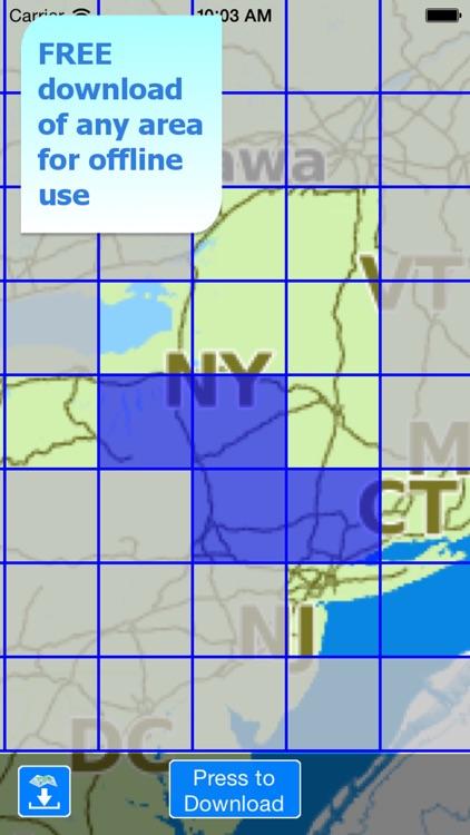 Aqua Map New York Lakes GPS HD screenshot-4