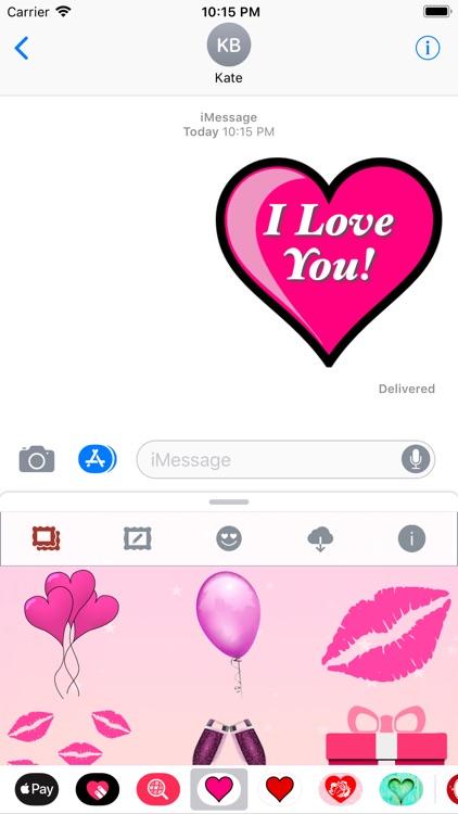 Pink Love • Emoji and stickers screenshot-9