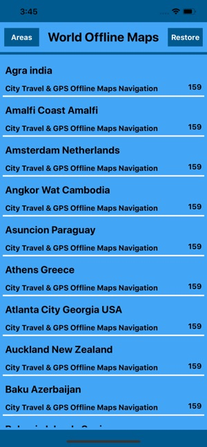 Travel around world Offinemaps