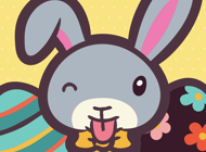Easter Bunny Emojis & Stickers