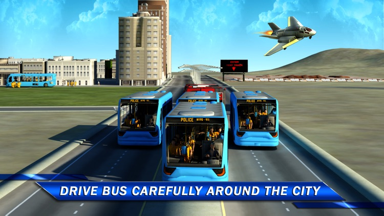 Prisoner Transport Bus Sim 3D screenshot-3