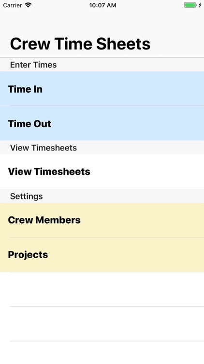crew timesheet by george bibby