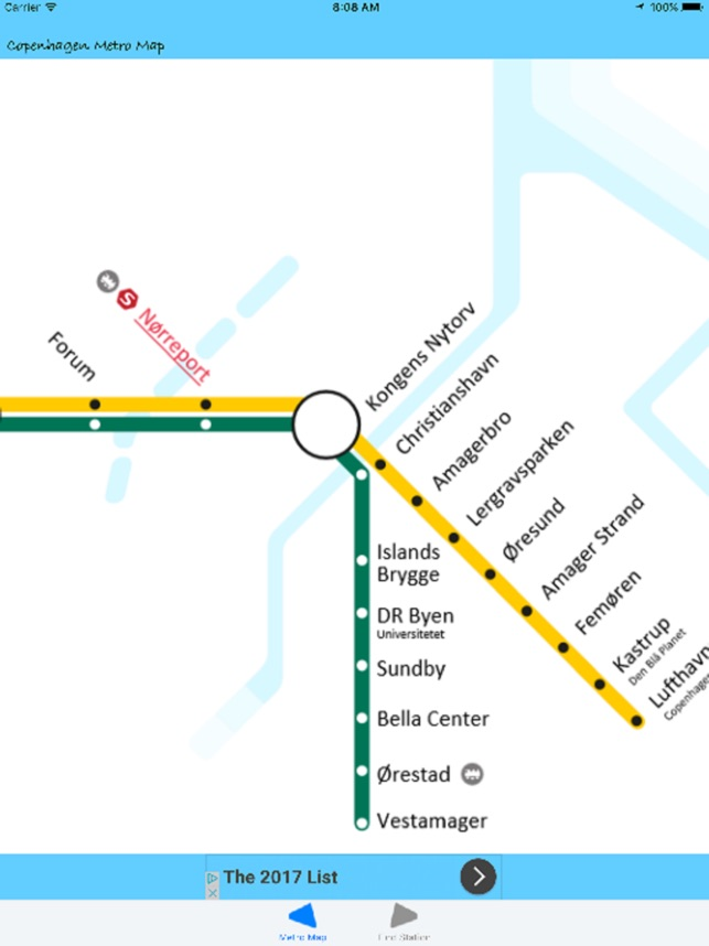 Copenhagen Metro Map on the App Store