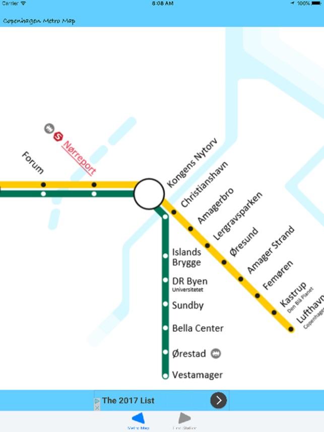 Subway Map Of Kopenhagen.Copenhagen Metro Map On The App Store
