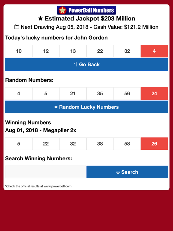 Powerball Lucky Numbers | App Price Drops