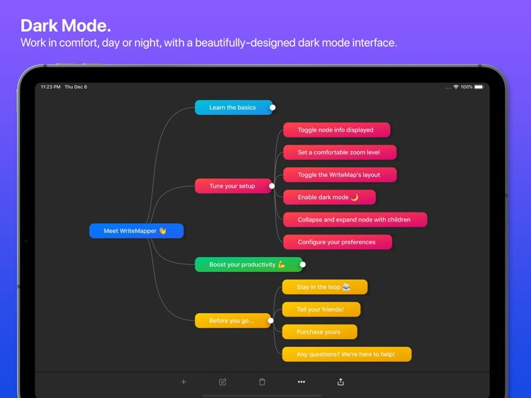 WriteMapper 2: Mind Map (iPad) screenshot-7