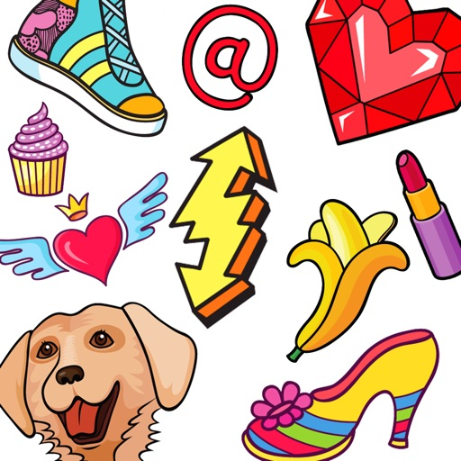 100 Stickers! Girly Love Deco