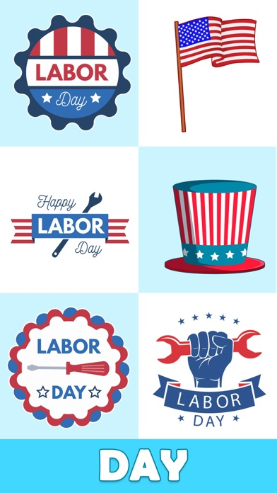 Animated Labor Day Stickers Screenshot 4