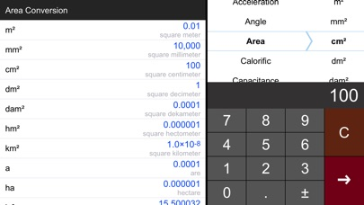 Screenshot #3 pour Unit Converter Pro HD.