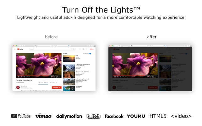 Turn Off the Lights for Safari on the Mac App Store