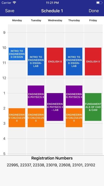 schedule builder college