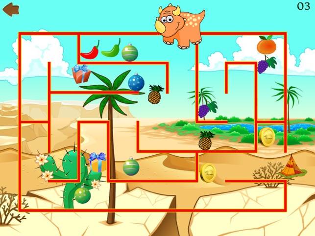 Dino Maze: kids learning games Screenshot