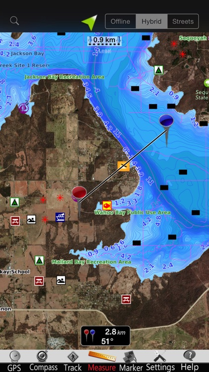 Oklahoma lakes Nautical Charts screenshot-3