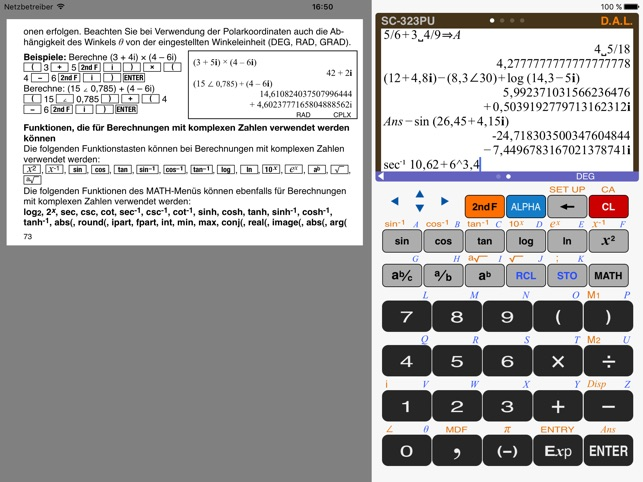 Taschenrechner - SC-323PU Screenshot