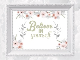 Beautiful & Elegant Motivational Quotes in Frames